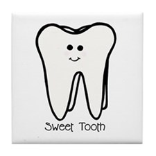 'Sweet Tooth' Tile Coaster