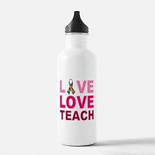 Live Love Teach Autism Water Bottle