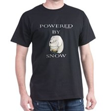 Powered by snow Black T-Shirt