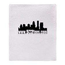 502tees skyline Throw Blanket