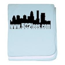 502tees skyline baby blanket