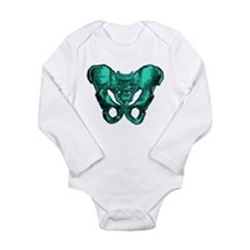Human Anatomy Pelvis Long Sleeve Infant Bodysuit