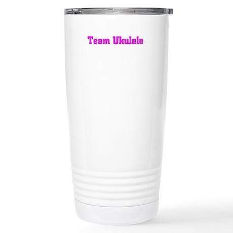 Team Ukulele Stainless Steel Travel Mug