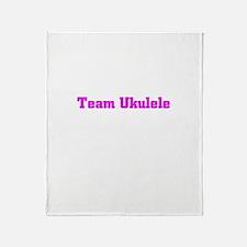 Team Ukulele Throw Blanket