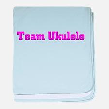 Team Ukulele baby blanket