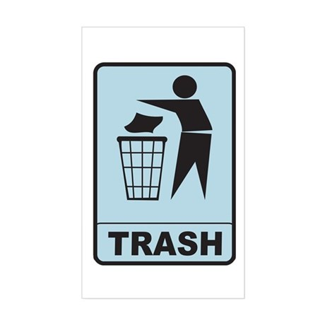 Trash Sticker (Rectangle)