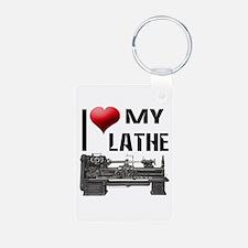I Heart (Love) My Lathe Keychains