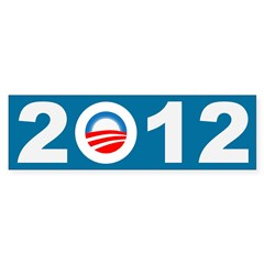 2012 Obama Icon Bumper Bumper Sticker