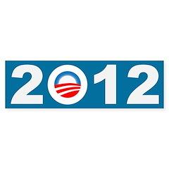 2012 Obama Icon Bumper Bumper Sticker