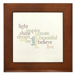 Kindness Matters Framed Tile