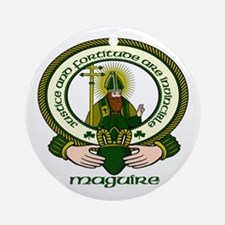 Maguire Clan Motto Ornament (Round)