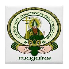 Maguire Clan Motto Ceramic Tile