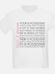 Rules of Grammar T-Shirt