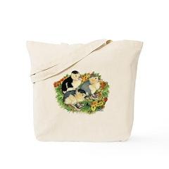 Flower Garden Ducklings Tote Bag