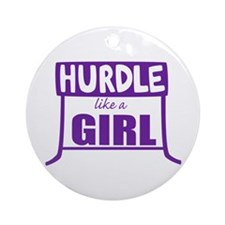 Like a Girl Ornament (Round)