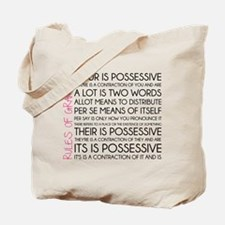 Rules of Grammar Tote Bag