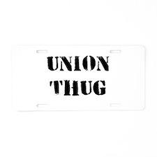 Original Union Thug Aluminum License Plate