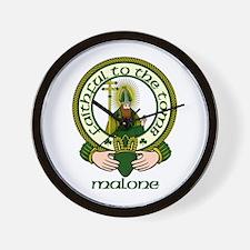 Malone Clan Motto Wall Clock