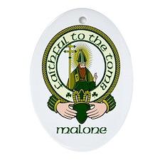 Malone Clan Motto Oval Ornament