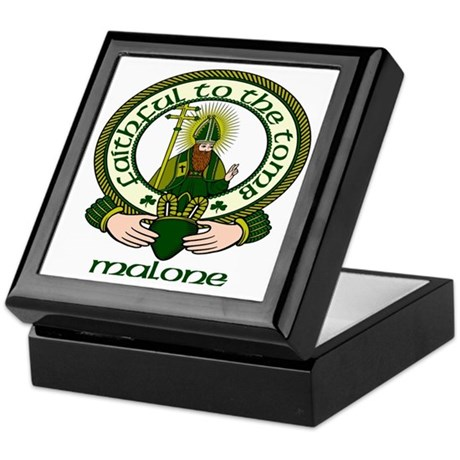 Malone Clan Motto Keepsake Box