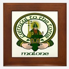 Malone Clan Motto Framed Tile