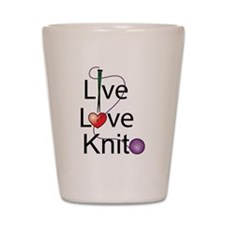 Live Love KNIT Shot Glass
