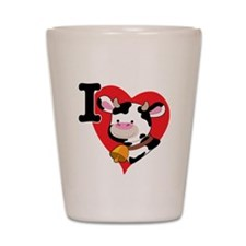 I Love Cows Shot Glass