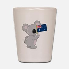 Koala Australian Flag Shot Glass