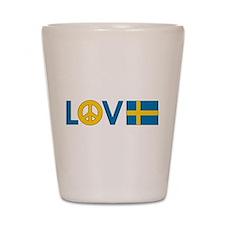 Love Peace Sweden Shot Glass