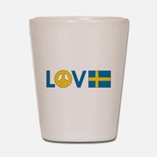 Love Peace Sweden Shot Glass