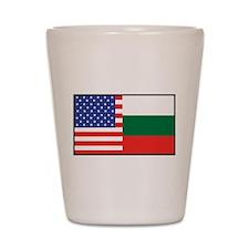 USA/Bulgaria Shot Glass