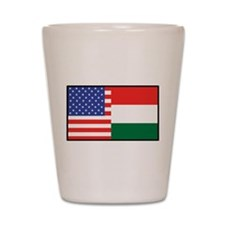 USA/Hungary Shot Glass