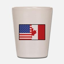 USA/Canada Shot Glass