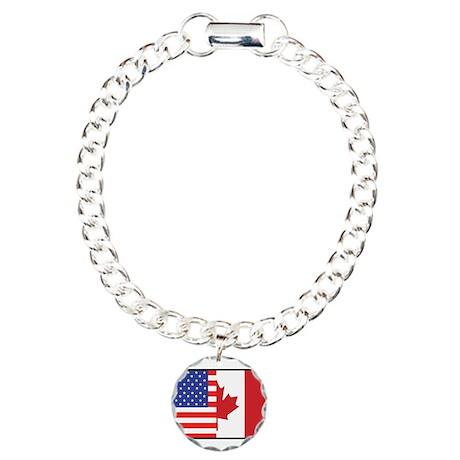 USA/Canada Charm Bracelet, One Charm
