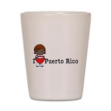 I Love Puerto Rico Shot Glass