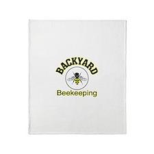 Backyard Beekeeping Throw Blanket