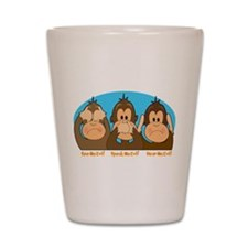 See,Speak,Hear No Evil Shot Glass