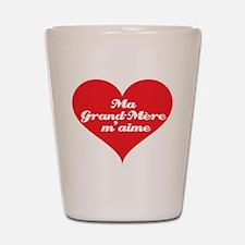 Grandma Loves Me (French) Shot Glass