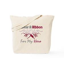 Head Neck Cancer Hero Tote Bag