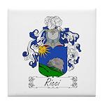 Ricci Coat of Arms Tile Coaster