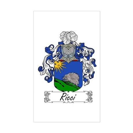 Ricci Coat of Arms Rectangle Sticker