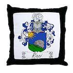 Ricci Coat of Arms Throw Pillow