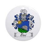 Ricci Coat of Arms Ornament (Round)