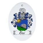 Ricci Coat of Arms Oval Ornament