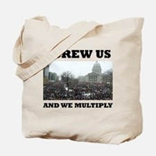 Screw us and we multiply union Tote Bag