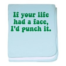 Punch It baby blanket
