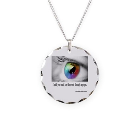 I wish you could see Necklace Circle Charm