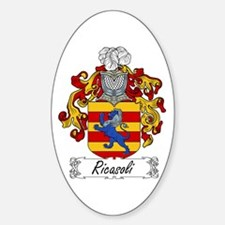 Ricasoli Coat of Arms Oval Decal