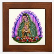 Lady of Guadalupe T4 Framed Tile
