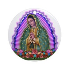 Lady of Guadalupe T4 Ornament (Round)